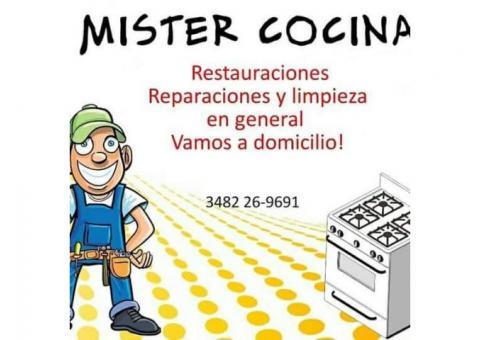 RESTAURACIONES Y ARREGLOS DE COCINAS