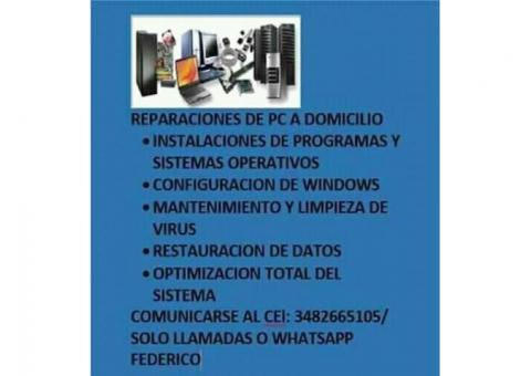 reparaciones de pc a domicilio