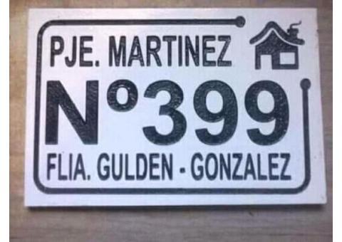 placas de dirección casa