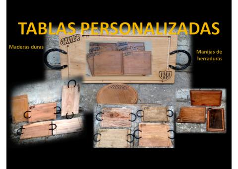 TABLAS PARA ASADO PERSONALIZADAS