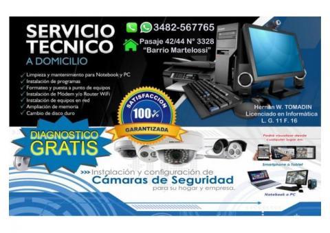 Servicio técnico informático a domicilio, Instalación y configuración de cámaras de seguridad.