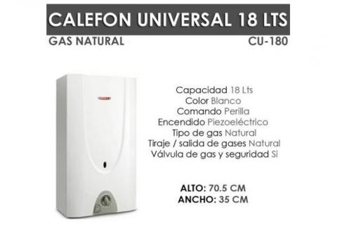Calefon Universal CU180 de 17Lts Gas Natural