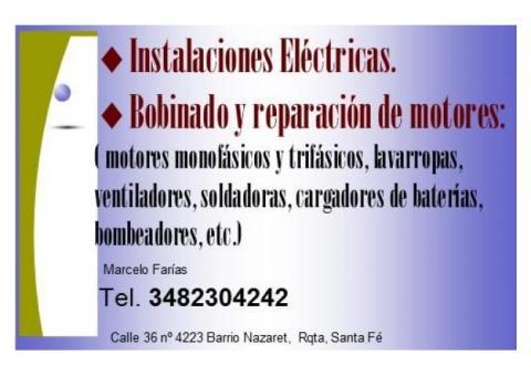 Instalaciones Eléctricas, Bobinados y reparación de electrodomésticos