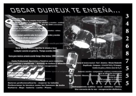 CLASES DE GUITARRA Y CANTO EN RECONQUISTA