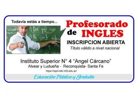 PROFESORADO DE INGLES EN RECONQUISTA