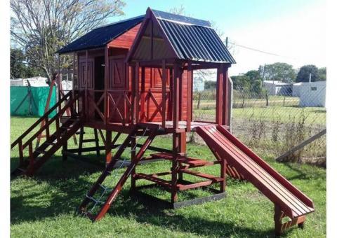 mangrullos y casitas de madera para niños