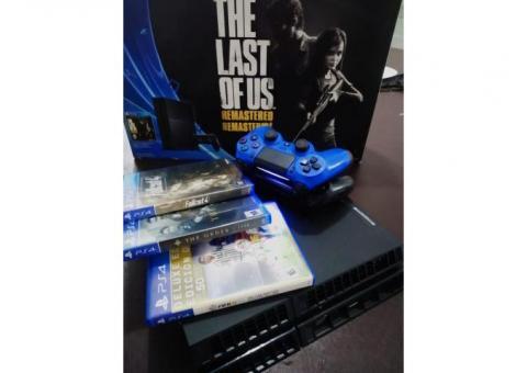 LIQUIDO PS4 500GB CON 2 DUALSHOCK 4 + 3 JUEGOS, IMPECABLE!