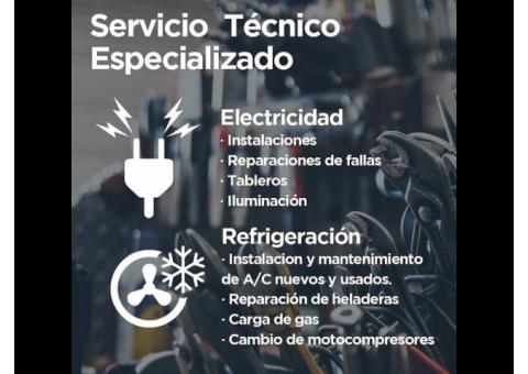 Electricidad y Refrigeración domiciliaria